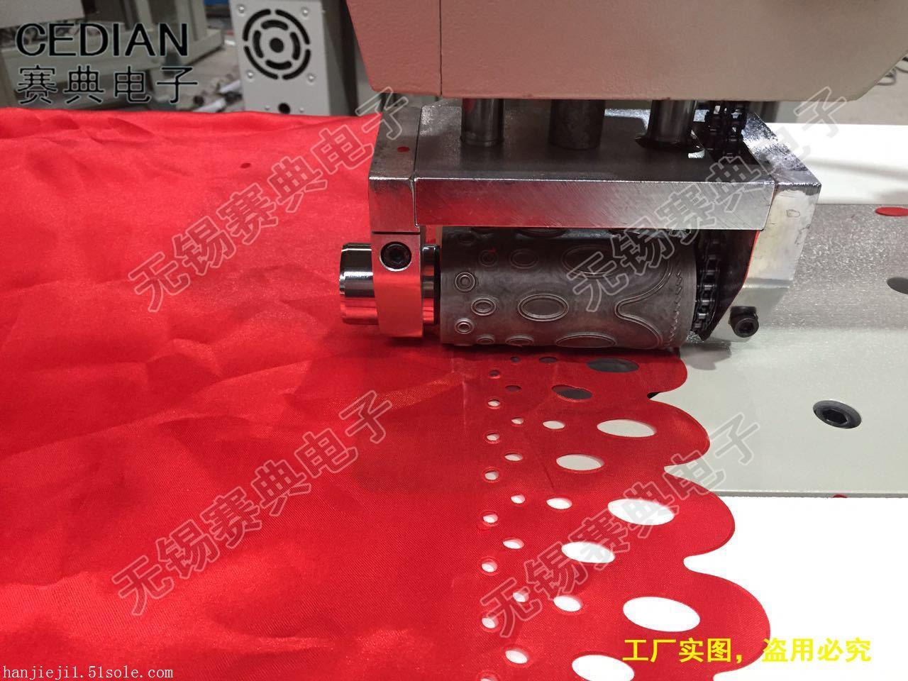 直销优质超声波纱窗帘花边机,沙门帘缝合机,花边缝合机,价格低