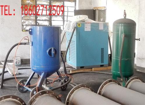湖北武汉哪儿有喷砂设备出租 空压机喷砂机储气罐整套出租