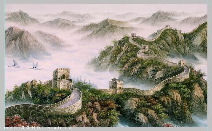 3d立体画立体装饰画绘画长城三维光栅风景画