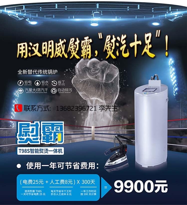 汉明威T98S智能熨烫一体机熨斗烫斗蒸汽一体烫斗
