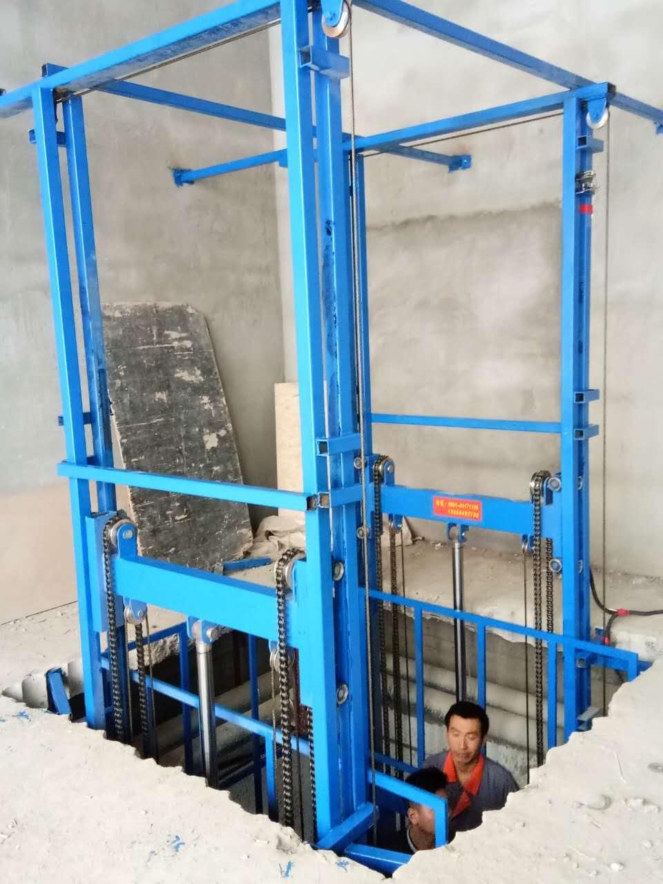 济南升降机可定做 家用货梯 升降台10米导轨式升降机
