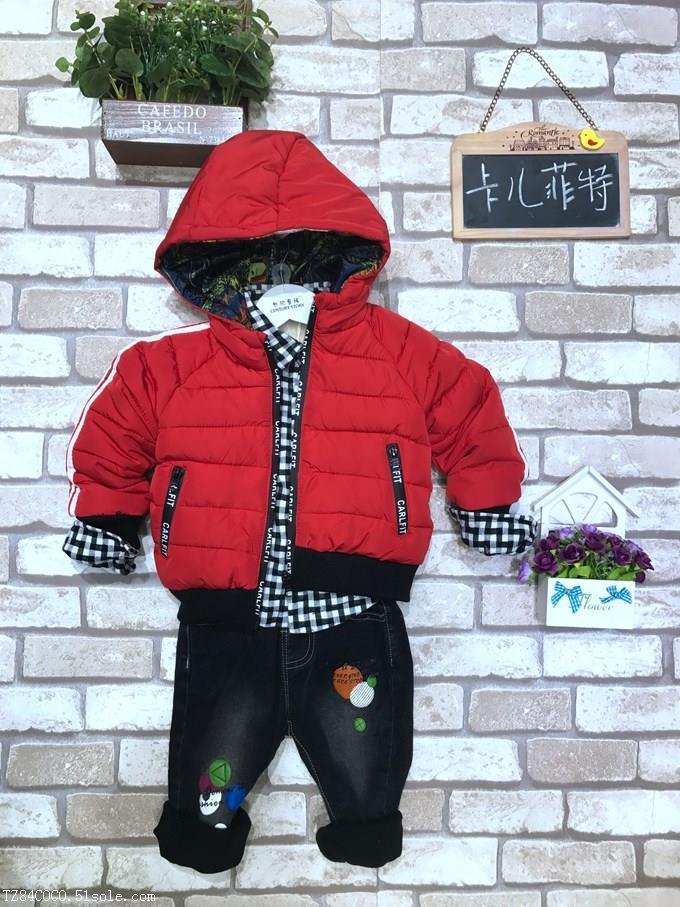 卡尔菲特儿童服装折扣批发棉衣棉衣童装货源
