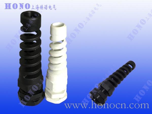上海焕诺电气HONO防折弯尼龙电缆接头,环保新料耐扭式尼龙接头