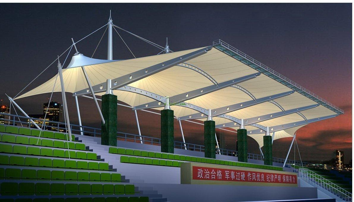 北京膜结构看台厂家,张拉膜看台设计