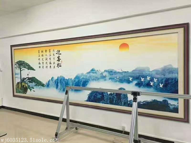 安徽背景壁画3D墙体喷绘机 户外墙体艺术绘画