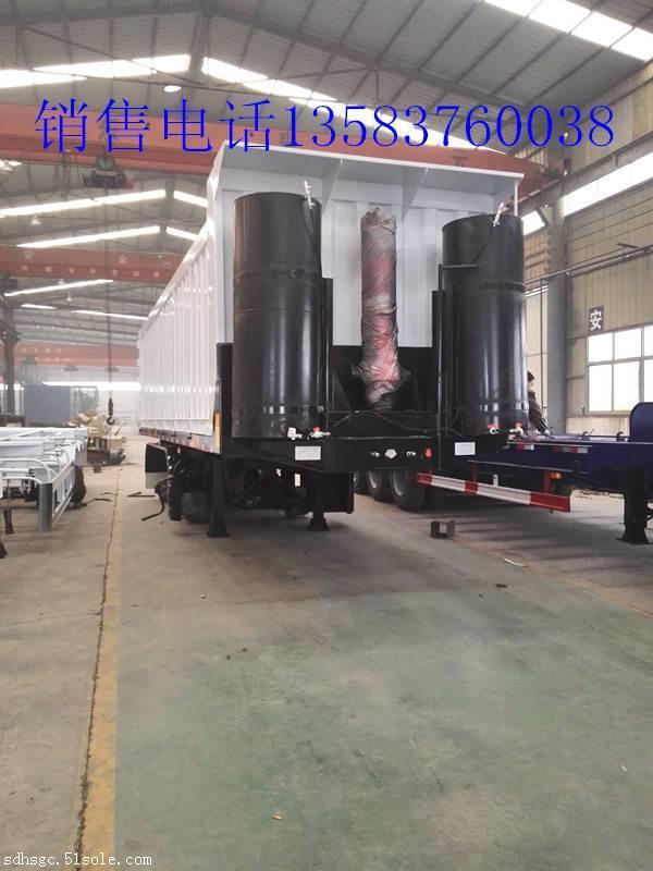 液压爬梯低平板车厂家图片