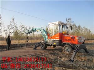 挖掘机式电线杆挖坑机 挖掘机挖坑机长方形 螺旋挖坑机汽油