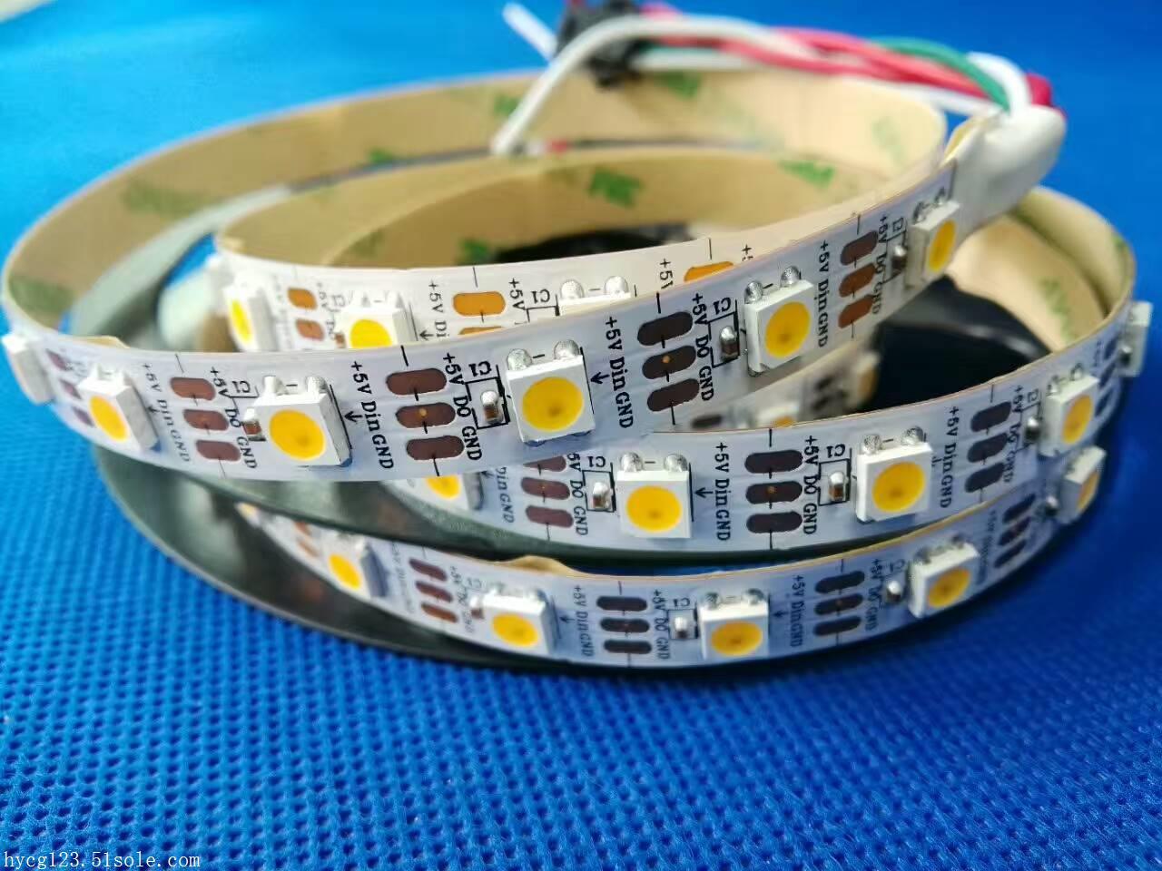 LED灯带-1米60段60灯-缓白-5V-内置IC