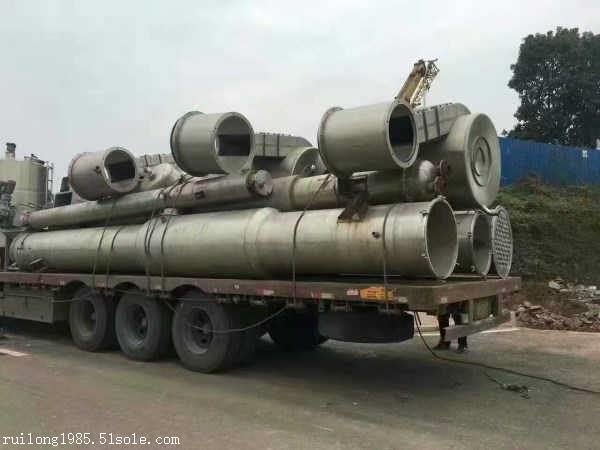 广州二手降膜蒸发器二手3吨三效钛材蒸发器