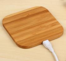 Qi标准竹木无线充电器