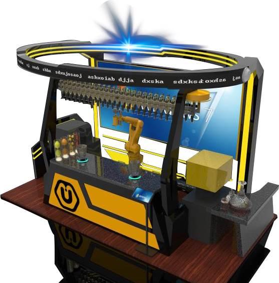U酷机器人果汁店连锁,拥有完全的自主知识产权