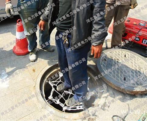 检查井防坠网多少米设置一道,下水道防坠网