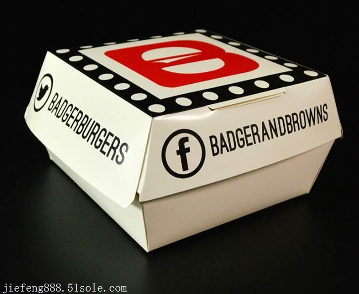 东莞厂家食品包装盒生产 汉堡包盒定制 机制量产