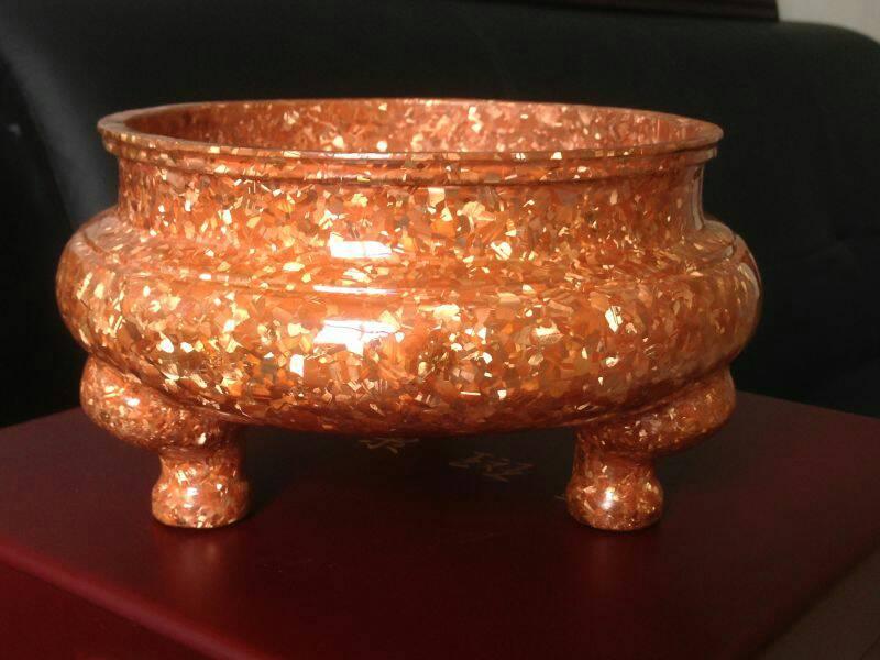 会泽德康斑铜传统手工艺术品生斑漂炉