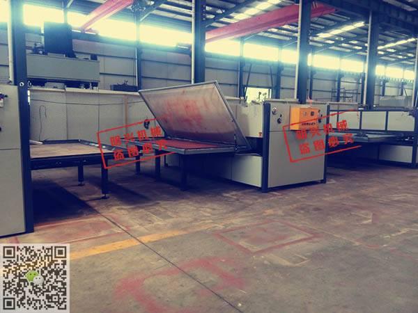 装饰平板 广告平板真空木纹转印机厂家 明兴机械