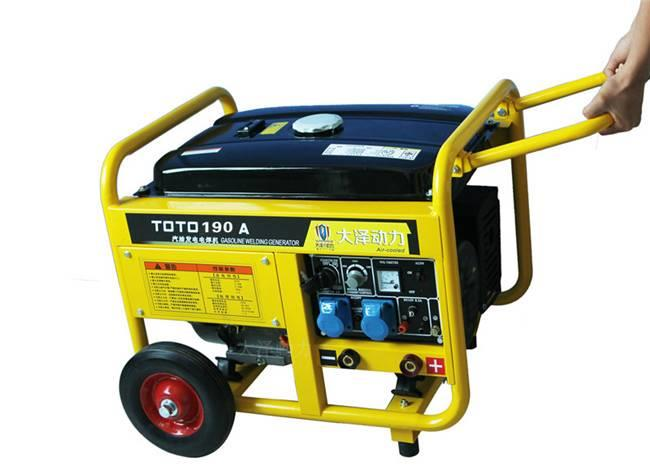 190a汽油发电电焊机可移动