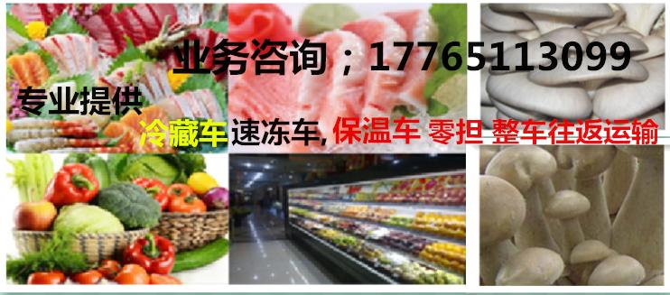 上海到毕节速冻冷藏恒温物流公司