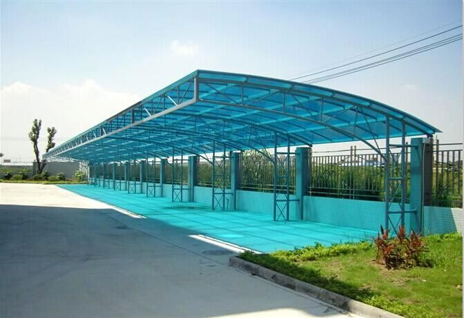 停车棚膜结构阳光板停车棚膜结构阳光板价格