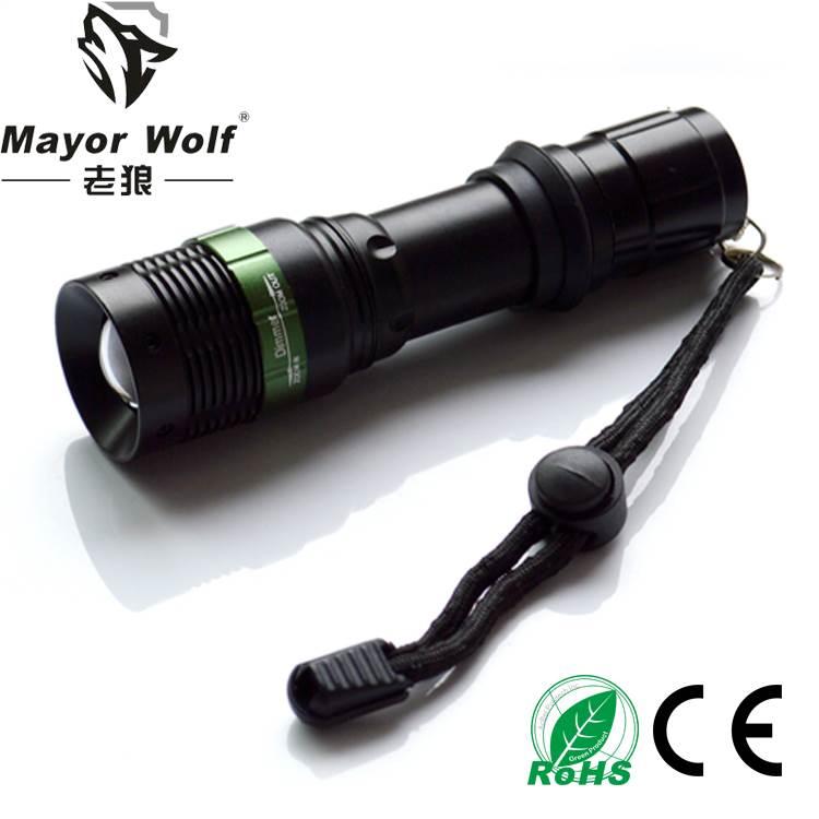 厂家批发 led充电手电筒 户外照明战术手电筒
