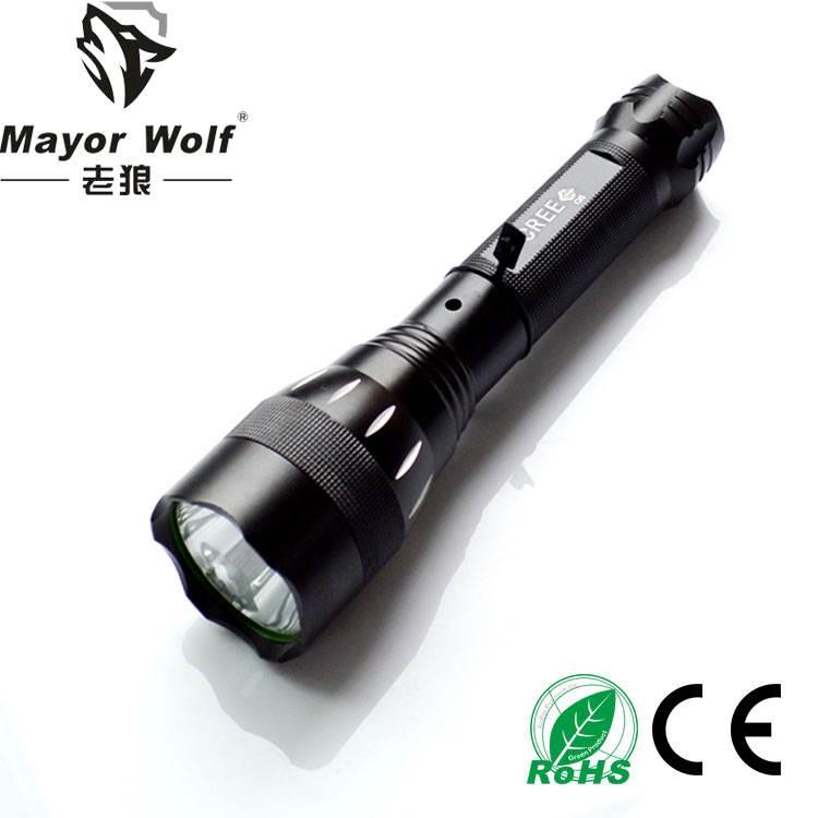 厂家批发  led充电手电筒 户外照明车载车用强光手电筒