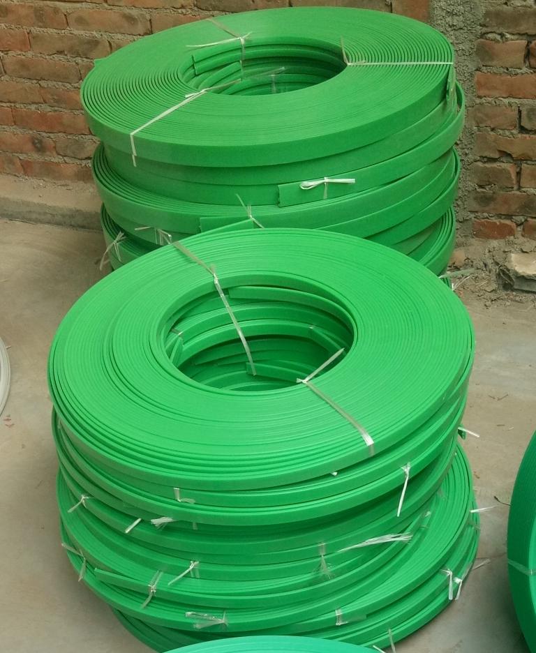 綠色鏈條導軌 高分子聚乙烯upe鏈導軌