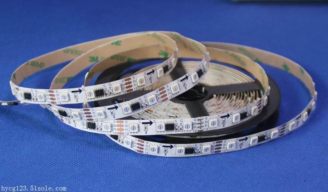 LED广告灯-断点续传-12v-1米20段60灯-外置IC幻彩LED灯
