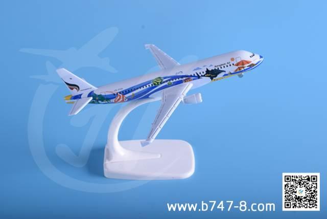 飞机模型空客A320 曼谷航空 金属飞机模型