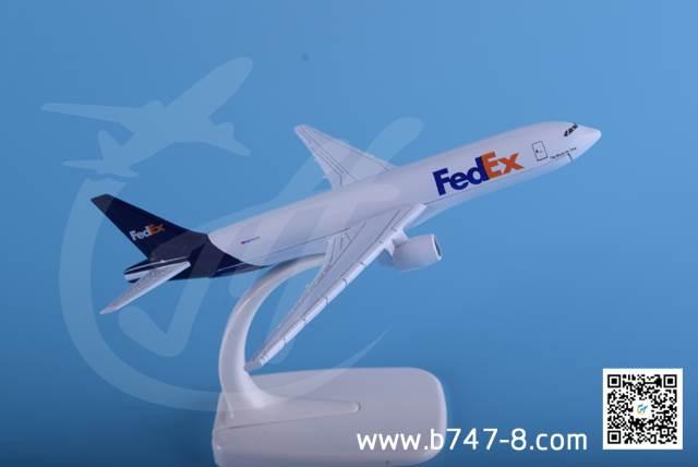 飞机模型波音B777 联邦快递 金属飞机模型