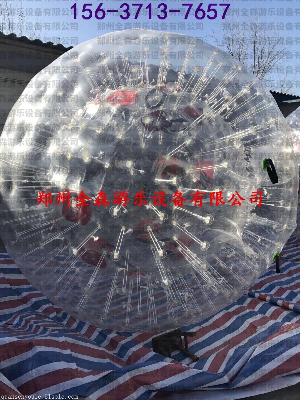 厂家直销优质TPU充气悠波球草地/雪地充气悠波球批发价水上滚筒现