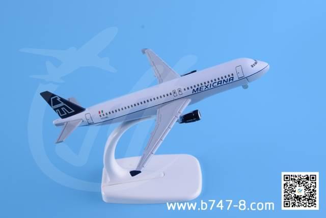 飞机模型空客A320 墨西哥航空 金属飞机模型