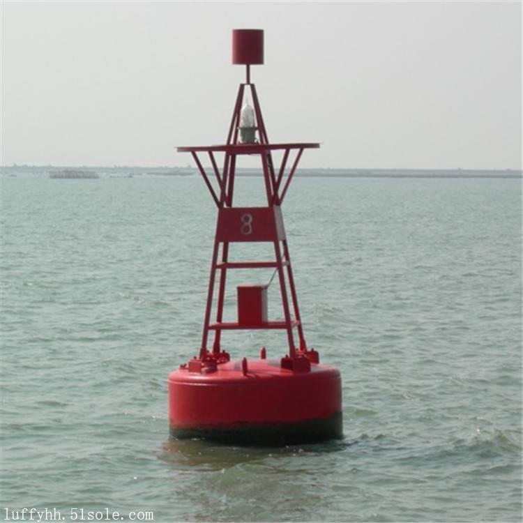 广州水上警示塑料浮标 太阳能警示灯航道航标