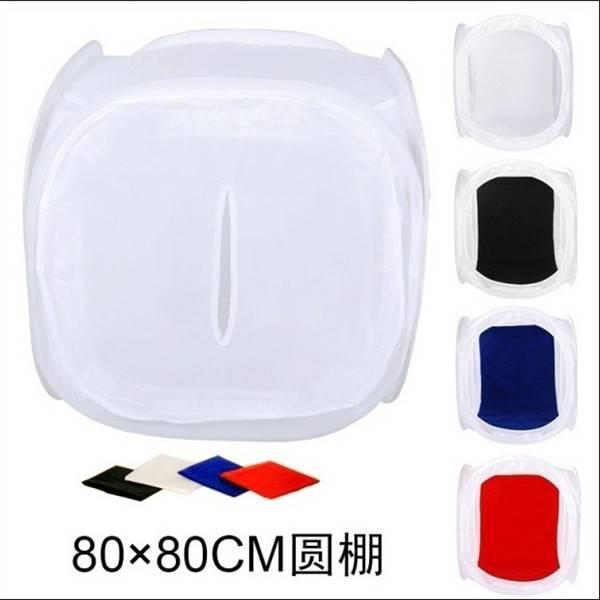 廠家直銷80CM攝影棚圓形柔光棚簡易折疊攝影器材拍照道具小型燈箱