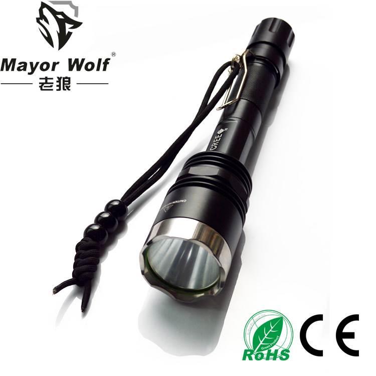 供应厂家批发  led充电手电筒  户外骑行照明打猎工具