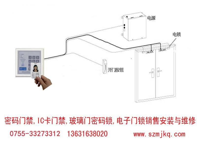 深圳专业维修IC卡密码指纹门禁锁快速上门服务