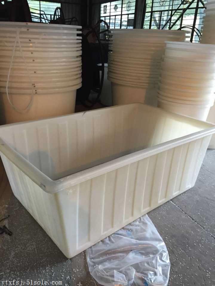 供应供应烟台耐酸碱长方桶白色牛筋料