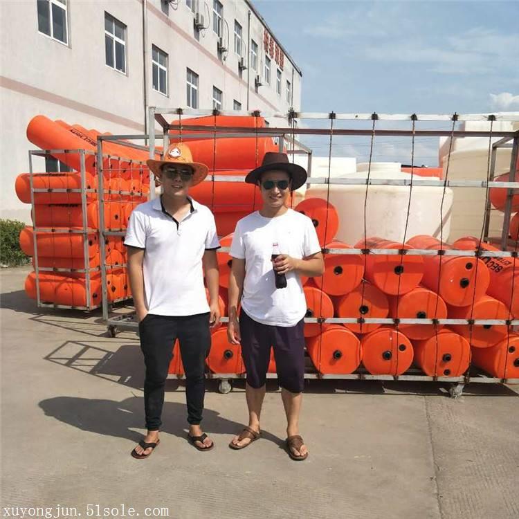 遂宁河道拦污浮体 直径40公分塑料浮体价格
