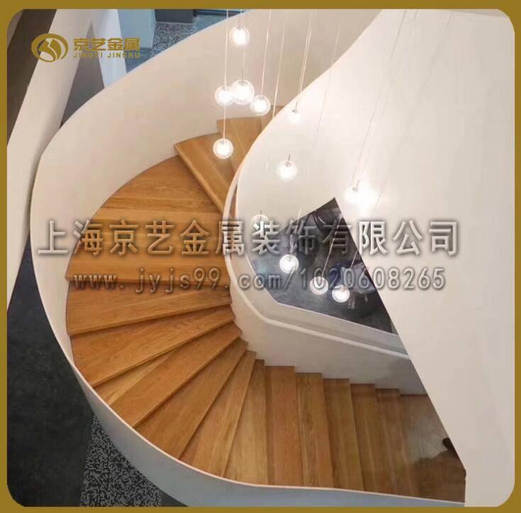 供应钢结构工程楼梯铁艺玻璃发光各种材质定制酒店别墅家商用楼梯