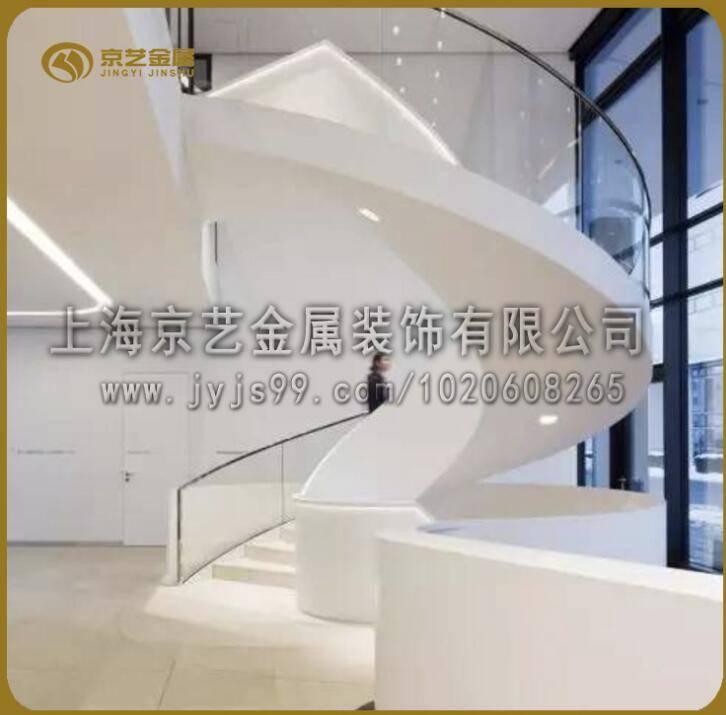 供应钢结构工程楼梯铁艺玻璃发光各种材质定制酒店别墅楼梯