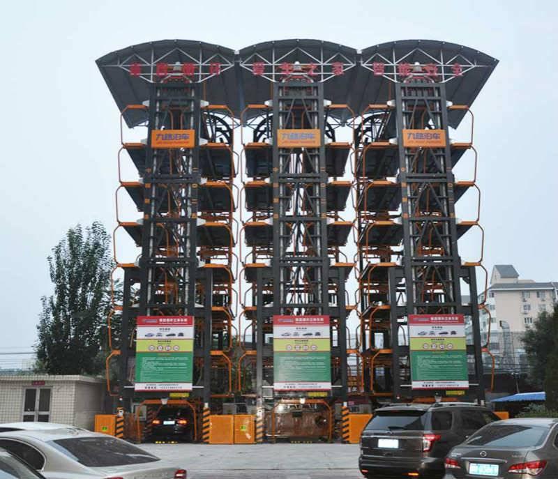 立体车库代理加盟,九路泊车垂直循环智能立体停车楼