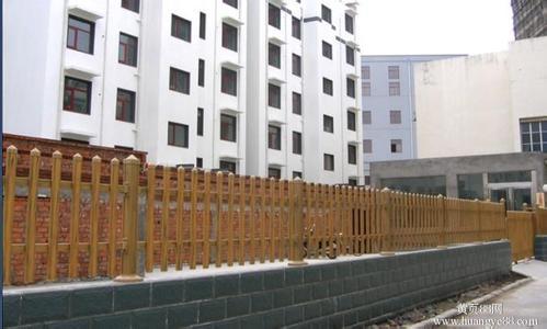 供应云南木纹色PVC护栏