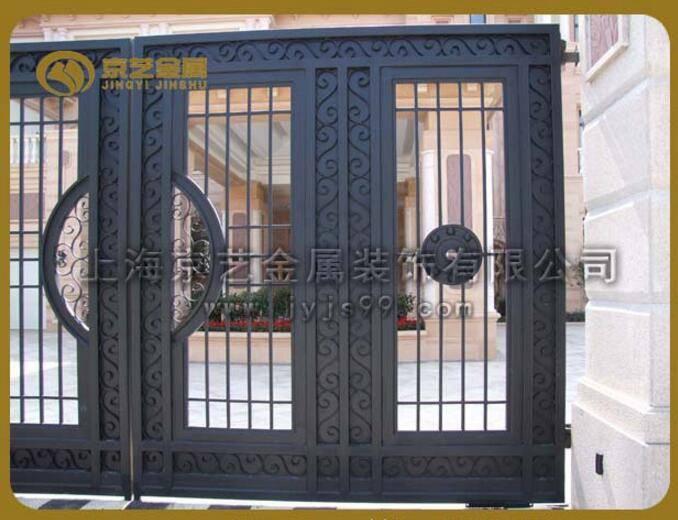 电动大门,自动铁艺大门,别墅遥控门  品牌 银昊 型号 定制 风格 欧式