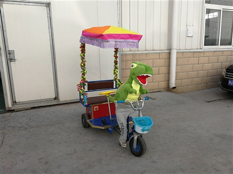 小动物拉车机器人蹬车小洋人拉车电动黄包车