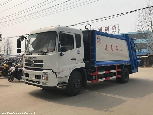 东风天锦12方压缩垃圾车程力威牌CLW5160ZYSD5型压缩式垃圾车