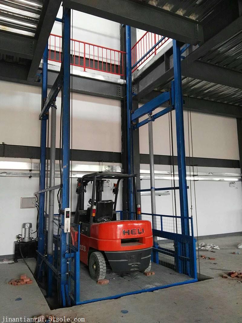 海口1-10吨固定式液压货梯天锐升降货梯厂家供应图片