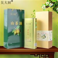 吴大厨 纯天然山茶油 1.6l食用油茶油礼盒包装