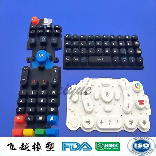 遥控器硅胶按键颜色飞越厂家可定制