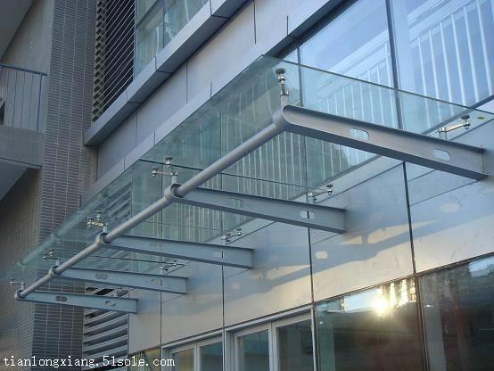 惠州钢结构玻璃雨棚 不锈钢玻璃雨棚加工