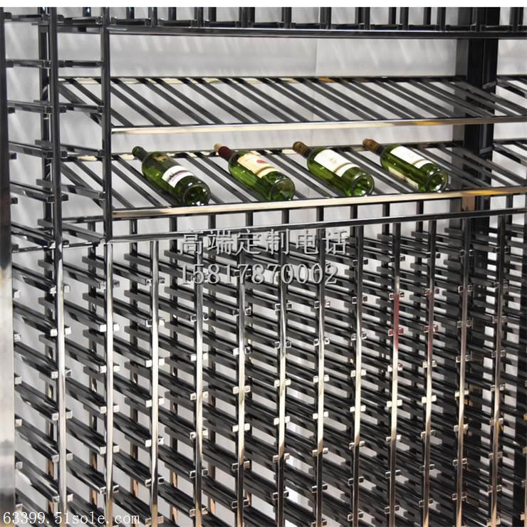 8K镜面不锈钢红酒柜酒架 现代不锈钢恒温酒柜衣柜书柜展示柜定制