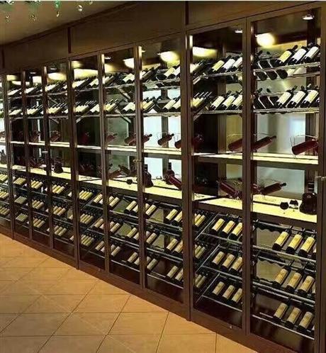 定制现代简约款不锈钢酒柜