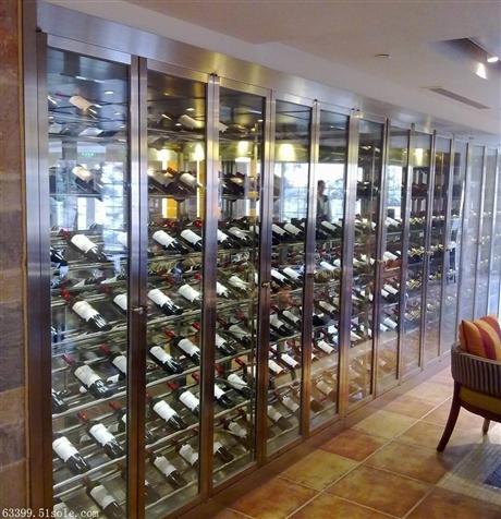 高端定制不锈钢酒架 私人会所酒架